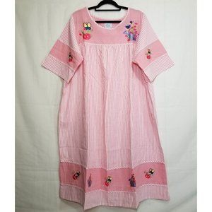 Only Necessities embroidered lounge housedress 1X